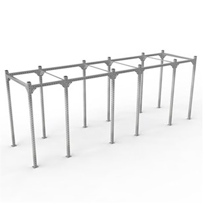 XF 80 Rig Freestanding 2700 Wide - Galvanized