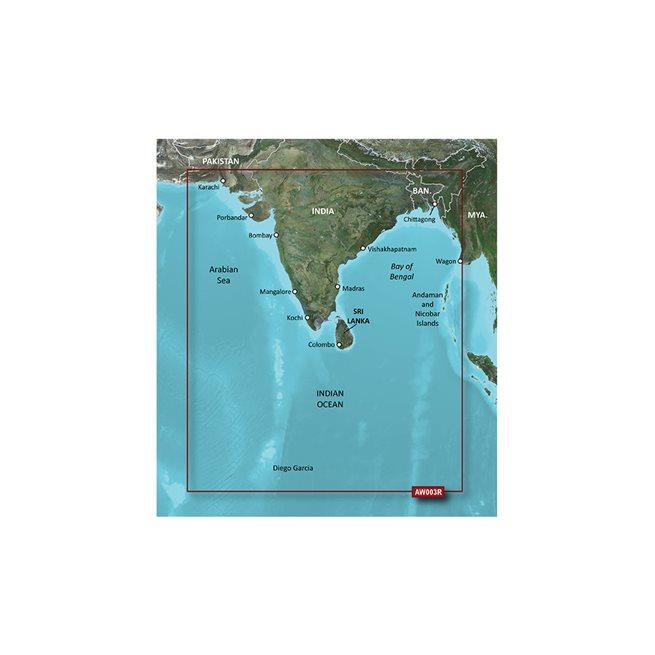 Indian Subcontinent Garmin microSD™/SD™ card: HXAW003R