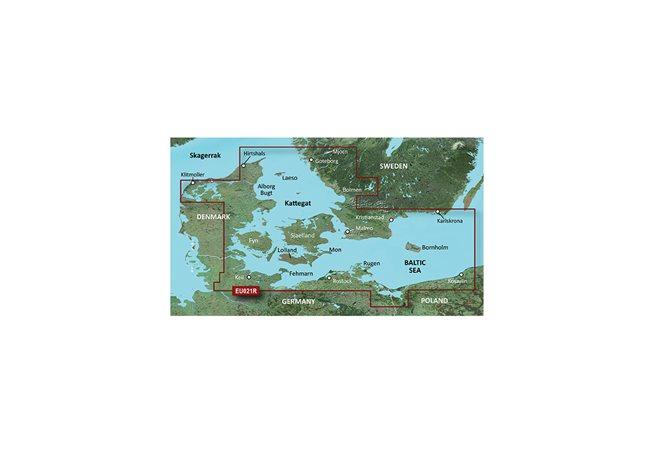 Danmark Öst - Sverige Sydöst Garmin HXEU021R - BlueChart g3 mSD/SD