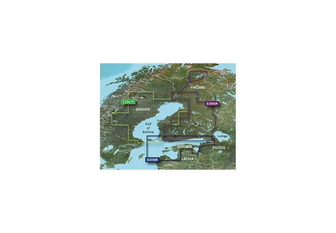 Gulf of Bothnia Garmin HXEU047R - BlueChart g3 mSD/SD