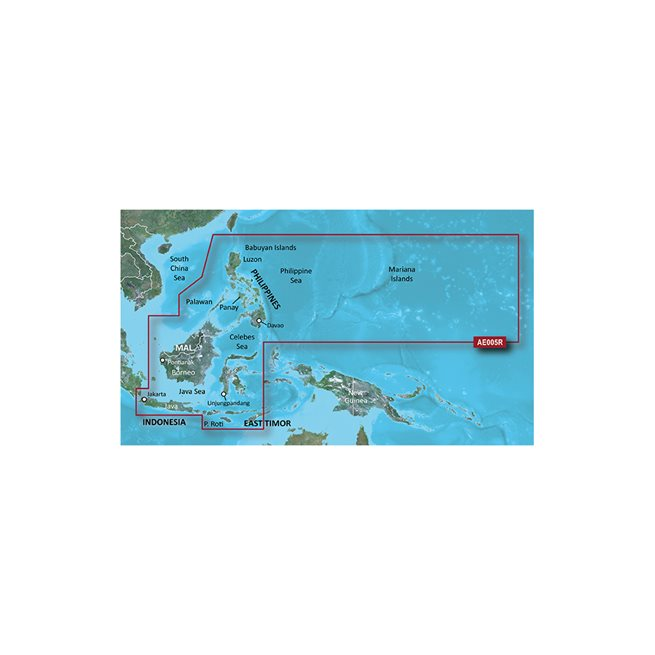 Philippines-Java-Mariana Islands Garmin microSD™/SD™ card: HXAE005R