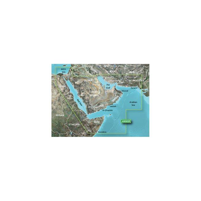 The Gulf & Red Sea Garmin microSD™/SD™ card: HXAW005R