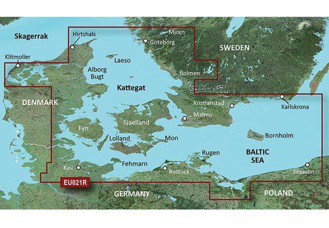 Danmark Öst-Sweden Sydöst Garmin VEU021R - BlueChart g3 Vision mSD/SD