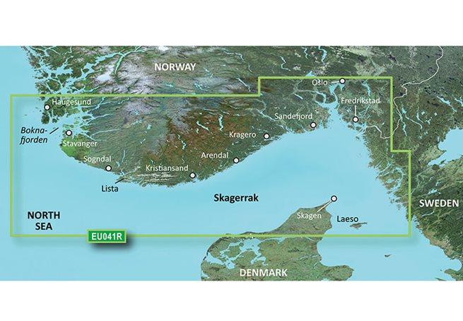 Oslo-Skagerak-Haugesund Garmin VEU041R - BlueChart g3 Vision mSD/SD