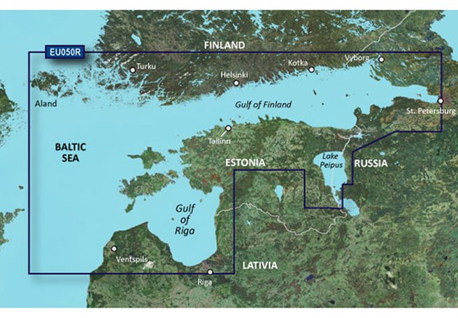 Gulfs of Finland & Riga Garmin VEU050R - BlueChart g3 Vision mSD/SD