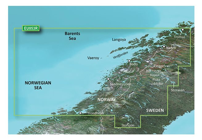 Trondheim-Tromsø Garmin VEU053R - BlueChart g3 Vision mSD/SD