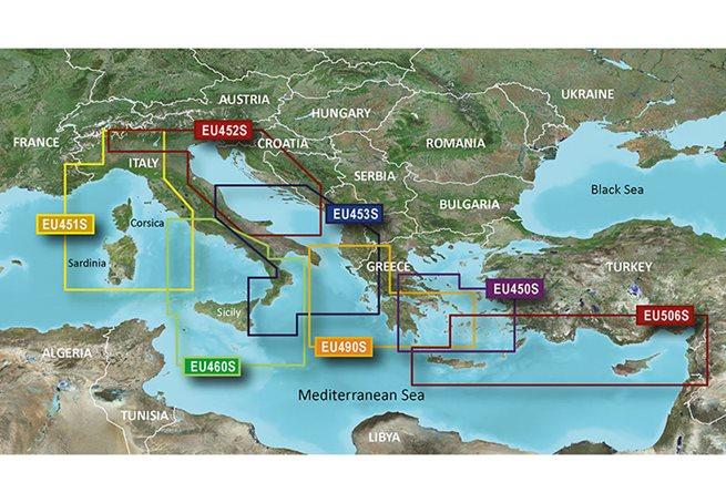 Adriatic Sea, North Coast Garmin VEU452S - BlueChart g3 Vision mSD/SD