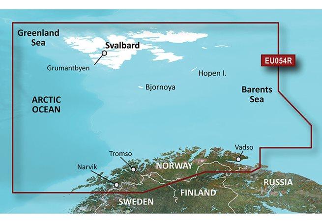 Vestfjord-Svalbard-Varanger Garmin VEU054R - BlueChart g3 Vision mSD/SD