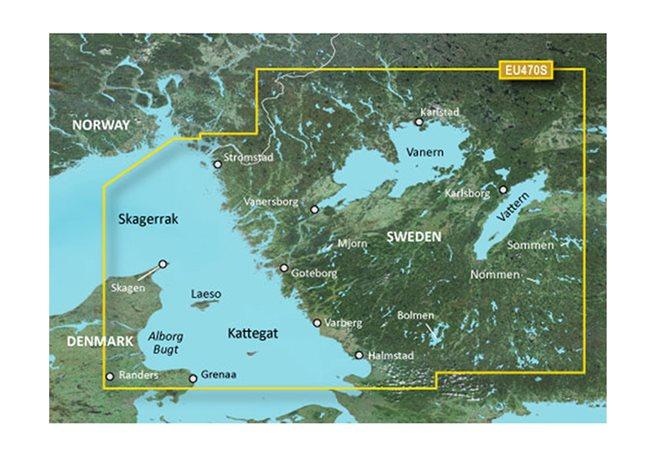 Strömstad till Halmstad Garmin VEU470S - BlueChart g3 mSD/SD