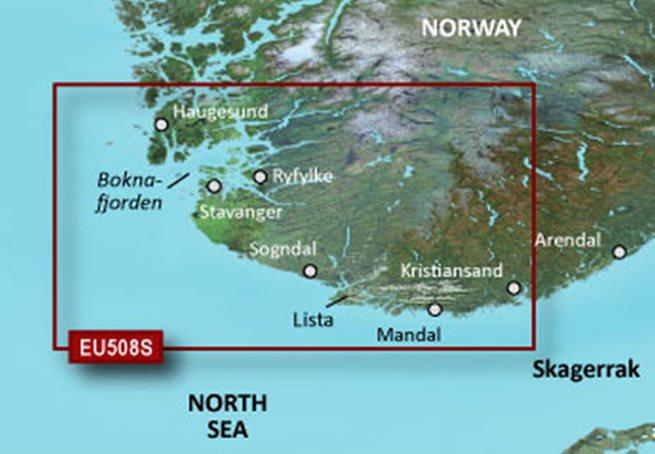 Oslo-Mandal-Smogen Garmin VEU507S - BlueChart g3 Vision mSD/SD