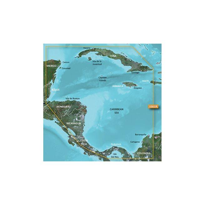 Southwest Caribbean Garmin HXUS031R microSD™/SD™ card
