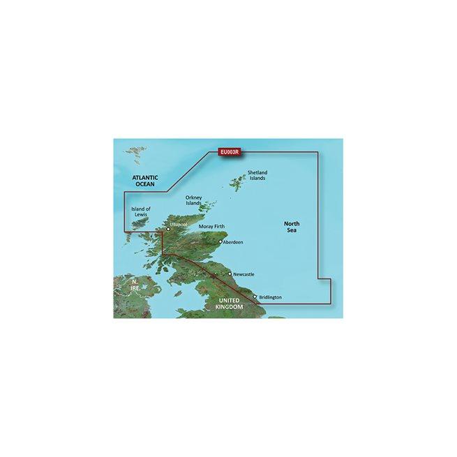 Great Britain, NE Coast Garmin microSD™/SD™ card: VEU003R-