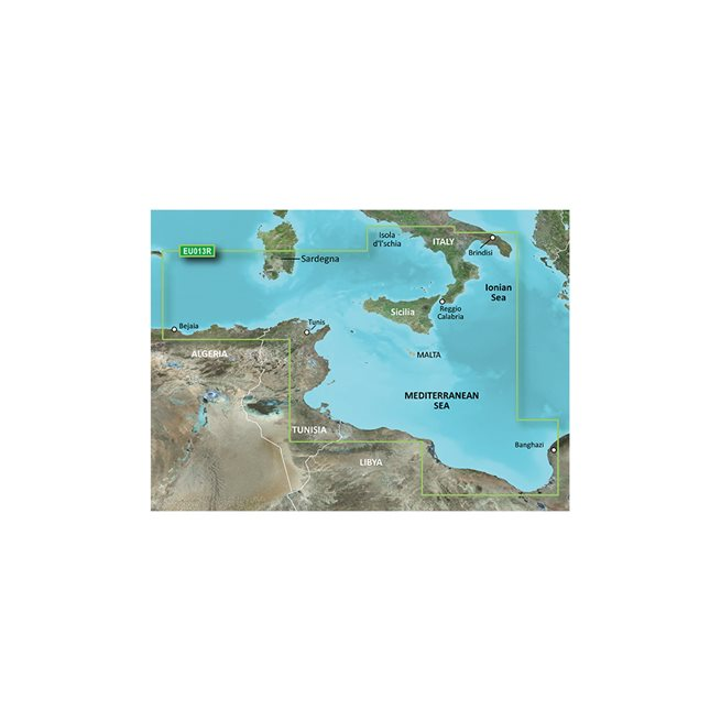 Tunisien - Italien Sydväst Garmin microSD™/SD™ card: VEU013R