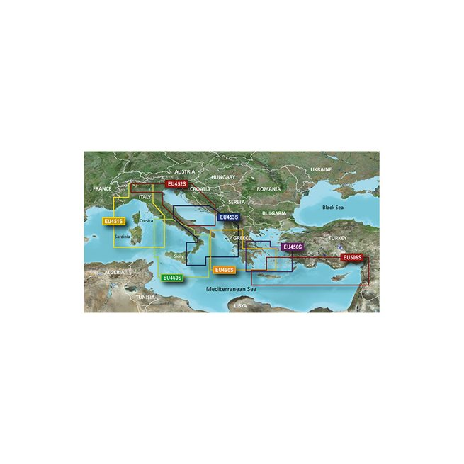 Ligurian Sea,Corsica & Sardinia Garmin microSD™/SD™card:VEU451S