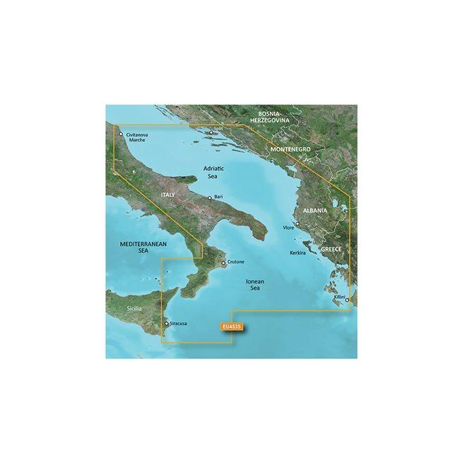 Adriatic Sea, South Coast Garmin microSD™/SD™ card: VEU453S