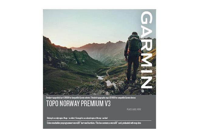 TOPO Norge Premium v3, Region 10 – Finnmark Garmin microSD™/SD™ card