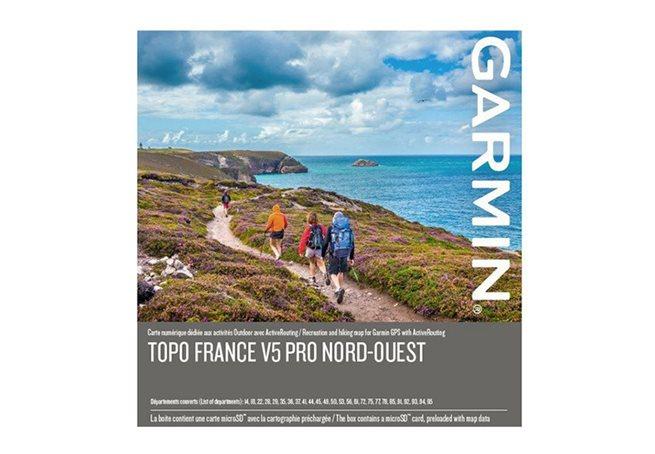 TOPO Frankrike v5 PRO, nordväst Garmin microSD™/SD™ card