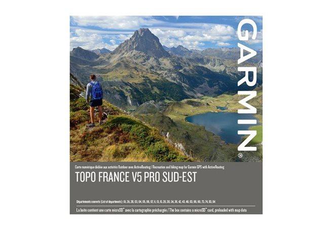 TOPO Frankrike v5 PRO, sydöst Garmin microSD™/SD™ card