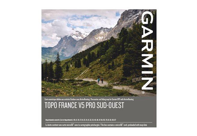 TOPO Frankrike v5 PRO, sydväst Garmin microSD™-/SD™-kort