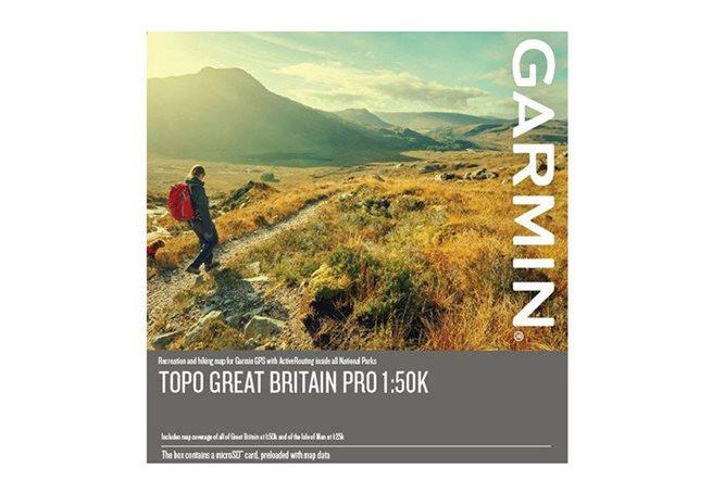 TOPO Storbritannien PRO 1:50k Garmin microSD™-/SD™-kort: