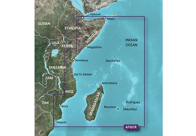 Eastern Africa Garmin microSD™/SD™ card: HXAF001R