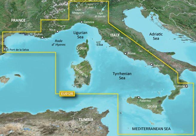 Mediterranean, CentralWest Garmin microSD™/SD™ card: VEU012R