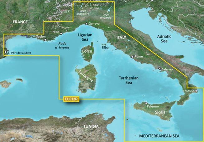 Mediterranean Sea, Central-West Garmin microSD™/SD™ card: HXEU012R