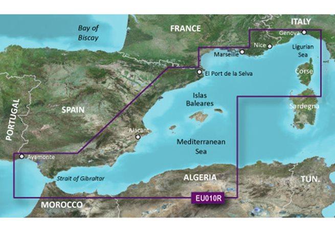 Spain, Mediterranean Coast Garmin microSD™/SD™ card: HXEU010R