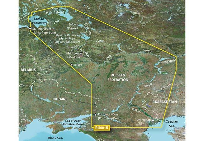 Russian Inland Waterways Garmin microSD™/SD™ card: HXEU062R