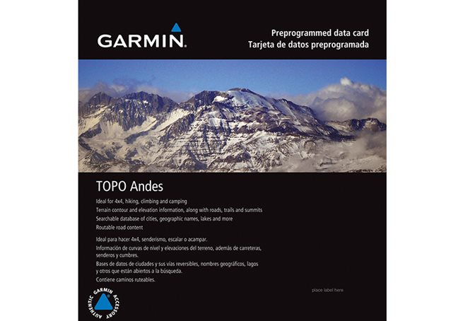 TOPO Chile Deluxe Garmin microSD™/SD™ card
