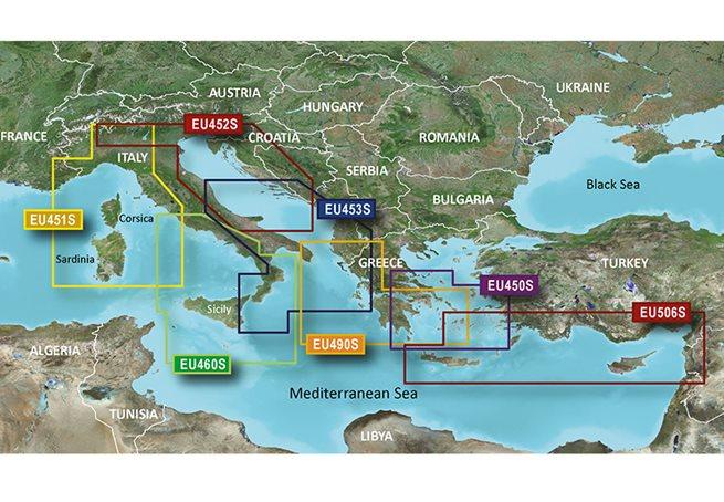 Greece WE Coast & Athens Garmin microSD™/SD™ card: VEU490S