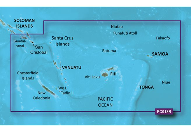 New Caledonia to Fiji Garmin microSD™/SD™ card: HXPC018R