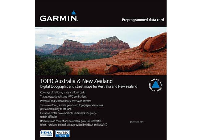 TOPO Australien + Nya Zeeland Garmin microSD™/SD™ card