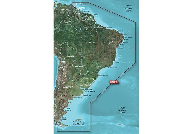 South America East Coast Garmin microSD™/SD™ card: HXSA001R