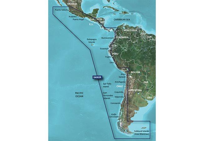 South America West Coast Garmin microSD™/SD™ card: HXSA002R
