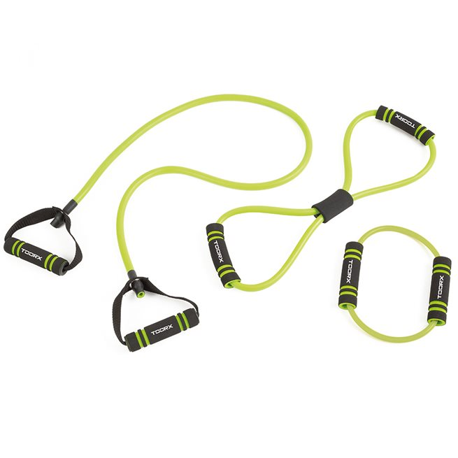 Resistance tube set - soft touch handles