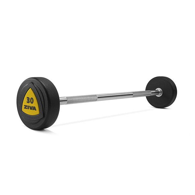 ZVO Solid Steel Urethane Barbell