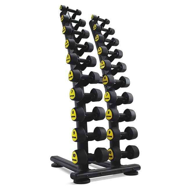 Studio Dumbbell Rack with Rubber Saddle 1-10kg